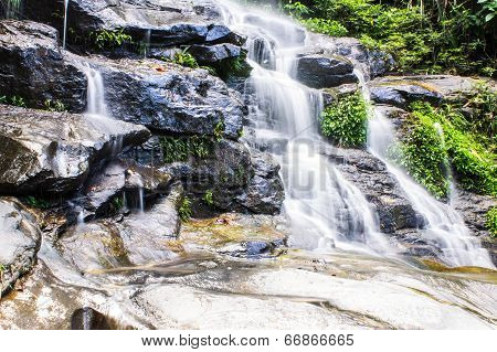 Mon Tha Than Waterfall In Doi Suthep - Pui National Park, Chiang Mai  Thailand