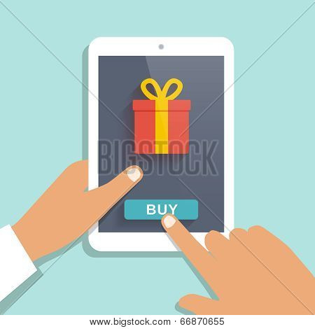 E commerce flat vector background