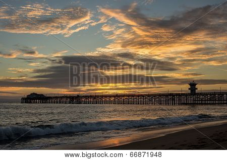 Seal Beach Pier Sunset