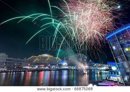 Fireworks In Darling Harbour