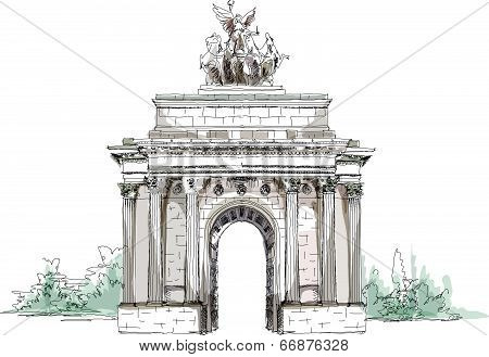 Sketch collection, Triumph Arch in London