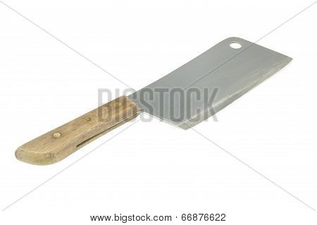 Old Cleaver Isolated