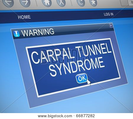 Carpal Tunnel Syndrome Concept.