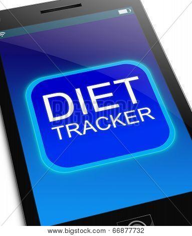 Diet Tracker Concept.