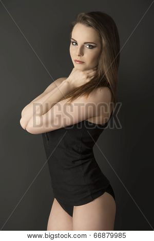 Woman With Comfortable Underwear