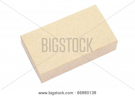 brown matchbox isolated on a white background