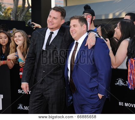 LOS ANGELES - JUN 09:  Channing Tatum & Jonah Hill arrives to the