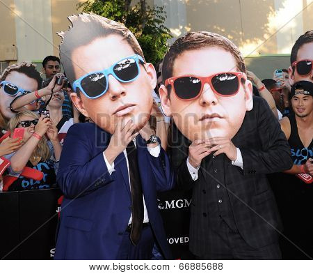 LOS ANGELES - JUN 09:  Jonah Hill & Channing Tatum arrives to the