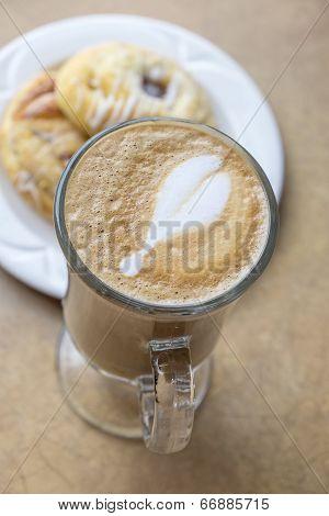 Latte and Danish Pastries