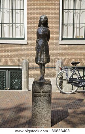 Anne Frank In Amsterdam