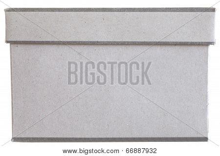 brown paper package shoes box on white