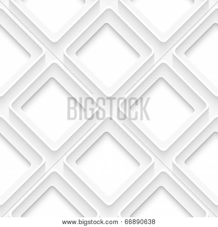 White Square With Rim Abstract
