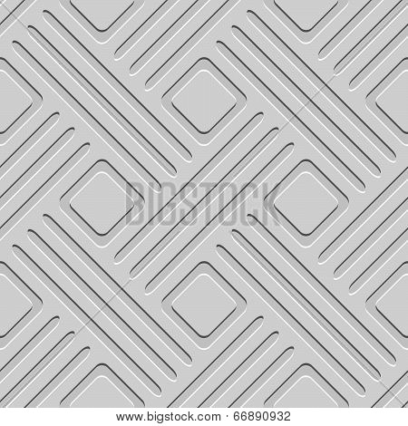 Gray Embossed Lines And Squares Seamless