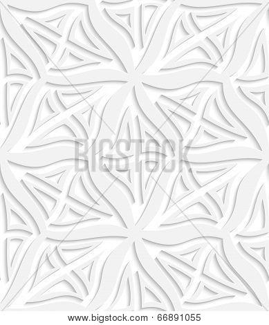 Rhombuses White Layered Seamless