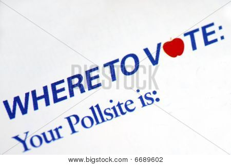 Designate a poll site to vote for the election