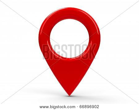 Red Map Pointer