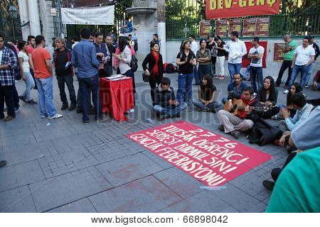 Demonstration To Protest The Jailing Of Student Activists