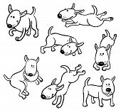 stock photo of frisbee  - Cute dog characters set on the white - JPG