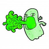 foto of funny ghost  - funny cartoon ghost - JPG