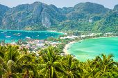 picture of koh phi-phi  - View from the highest viewpoint of Koh Phi - JPG