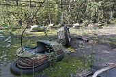 image of nuclear disaster  - Playground in Pripyat  - JPG