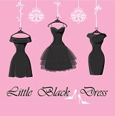 stock photo of little black dress  - The composition of the three female - JPG