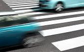 pic of zebra crossing  - Abstract car and traffic concept - JPG