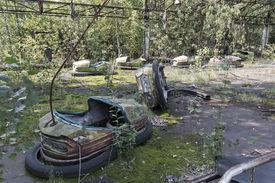 picture of reactor  - Playground in Pripyat  - JPG