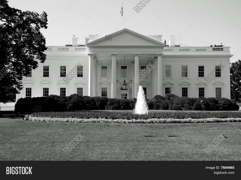 La maison blanche washington dc en noir et blanc photos - Maison en noir et blanc ...