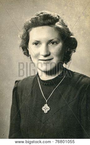 GUNZBURG, GERMANY, CIRCA 1930: Vintage photo of woman