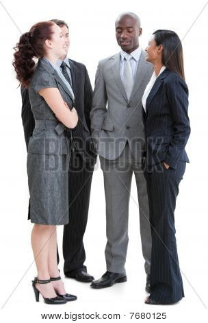 Cheerful Business People Interacting