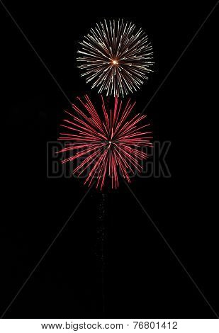 Fireworks On Black Background with space for caption