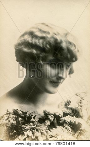 JASLO, POLAND, CIRCA 1930: Vintage photo of woman