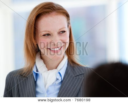 Portrait Of A Confident Businesswoman Standing