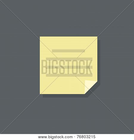 text note paper document flat design vector