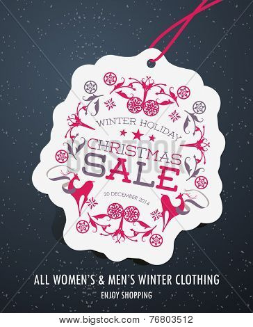 Winter Holiday Christmas Sale Tag