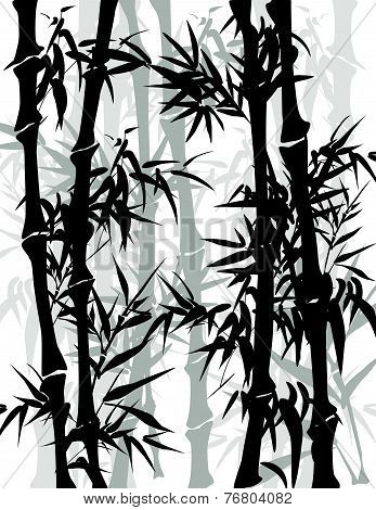 Asian bamboo background