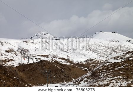 Ski Slopes In Little Snow Year