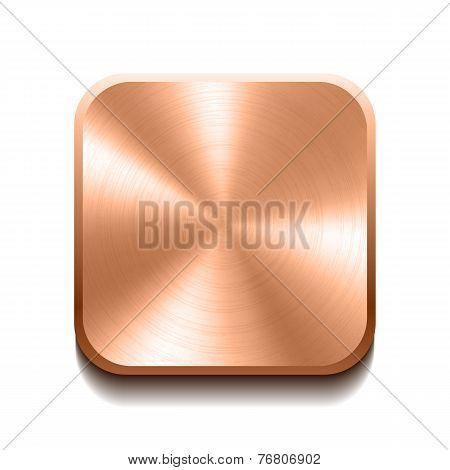 Realistic bronze button