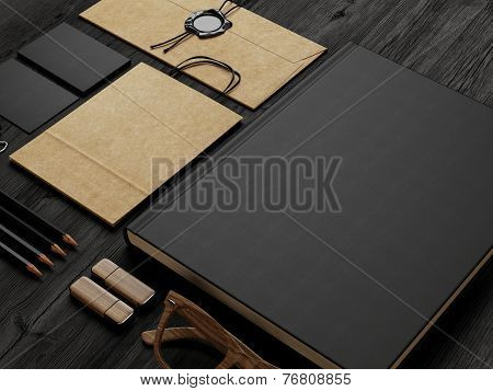 Set Of  Stationery Elements