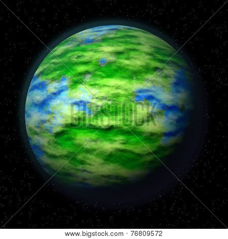 Illustration Of Green Planet