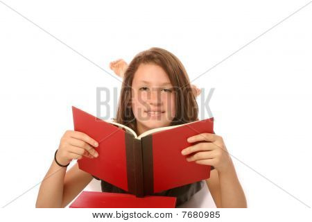 Teen Girl studying