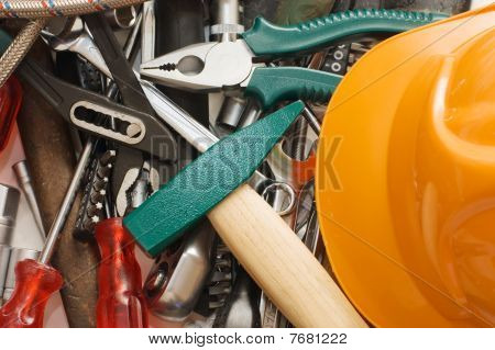 Hammer And Different Tools