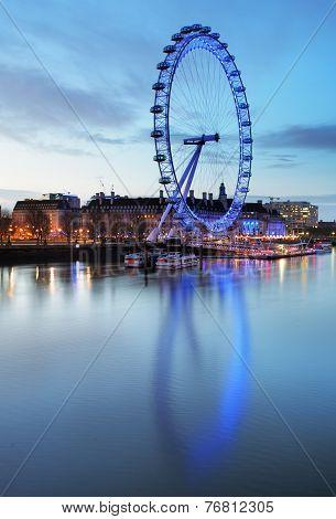 London, United Kingdom - June 19: London Eye On June 19, 2013 In London, United Kingdom Is The Talle