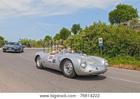 Former F1 Driver Jacky Ickx In Historical Race Mille Miglia 2014