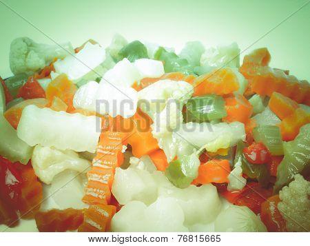 Retro Look Mixed Vegetables