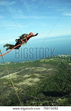 Rope jumping.Crimea. Kachy-Kalion.