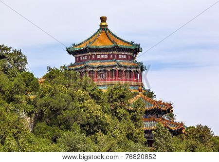 Longevity Hill Pagoda Tower Summer Palace Beijing China