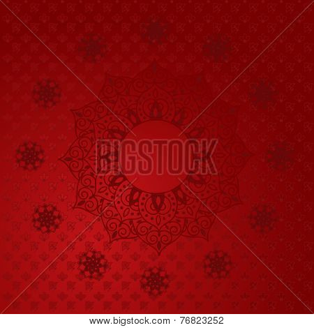 Red Indian Mandala Background