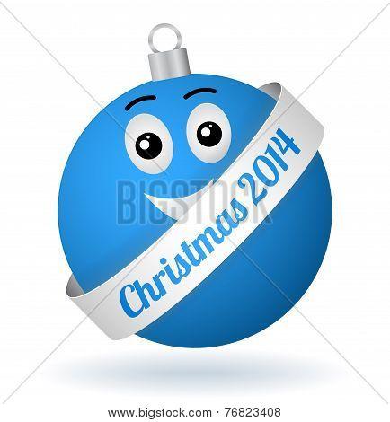 Vector Cartoon Christmas Ball Boy